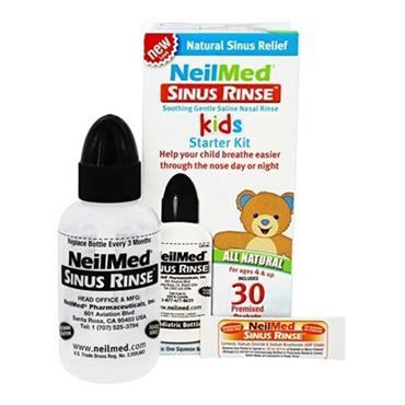 NeilMed Sinus Rinse Kids Starter Kit 120ml Bottle & 30 Premixed Packets