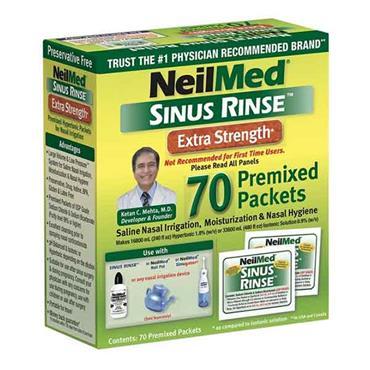 NeilMed Sinus Rinse Extra Strength 70 Premixed Sachets