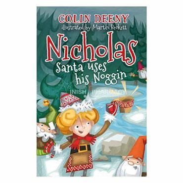 Nicholas Santa uses his Noggin Book