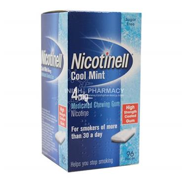 Nicotinell 4mg Cool Mint Gum 96 Pack