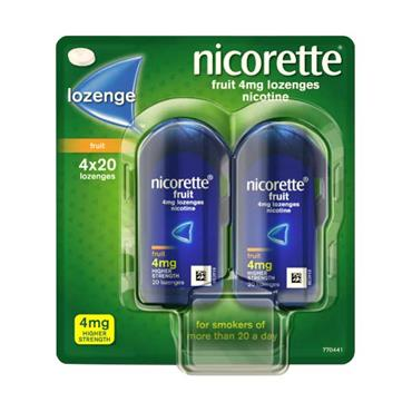 Nicorette Fruit Lozenges 4mg 4 pack