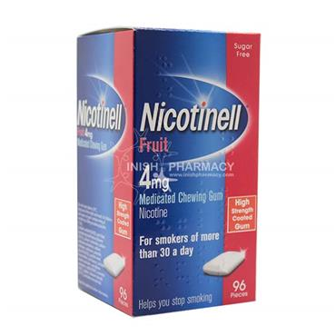 Nicotinell 4mg Fruit Gum 96 Pack