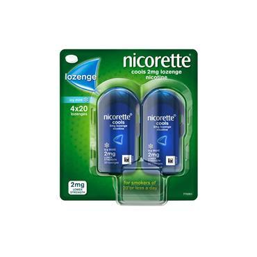 Nicorette Cools 2mg Lozenge 4x20 Pack