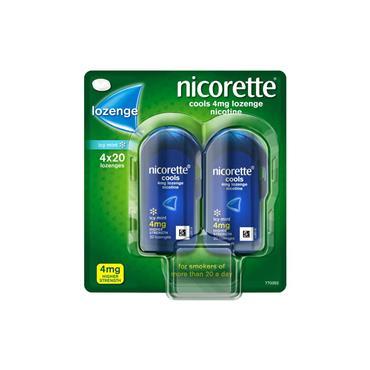 Nicorette Cools Icy Mint 4mg Lozenge 4x20 Pack