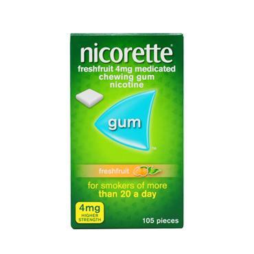 Nicorette 4mg Freshfruit Chewing Gum 105 Pieces