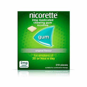 Nicorette 2mg Sugar Free Original Gum 210 Pieces