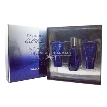 Davidoff Cool Water Night Dive Woman 3 Piece Gift Set