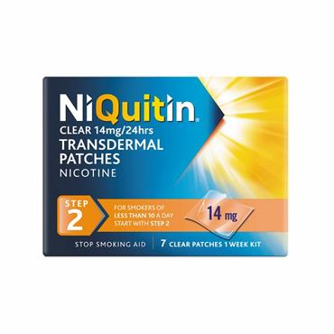 NiQuitin Clear 14mg Nicotine Patches Step 2 7 Pack