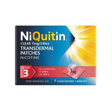 NiQuitin Clear 7mg Nicotine Patches Step 3 7 Pack