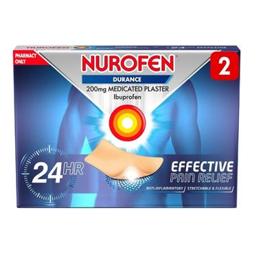 Nurofen Durance Ibuprofen 200g Medicated Plaster 2 Pack
