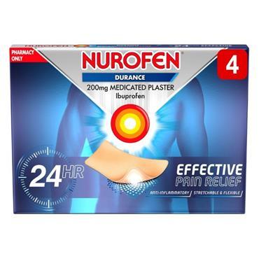 Nurofen Durance Ibuprofen 200g Medicated Plaster 4 Pack