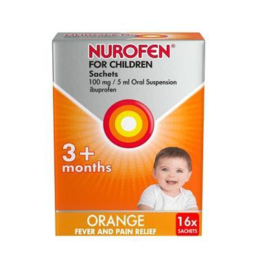 Nurofen For Children 100mg Ibuprofen Sachets 16 Pack