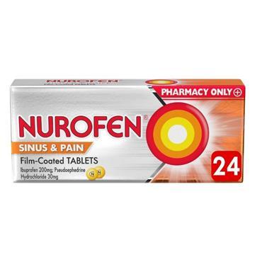 Nurofen Sinus & Pain Ibuprofen 200mg Film Coated Tablets - 24 Pack