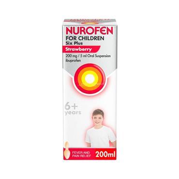 Nurofen For Children Six Plus Strawberry 200ml