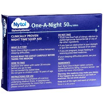Nytol One-A-Night Diphenhydramine Tablets 20 Pack