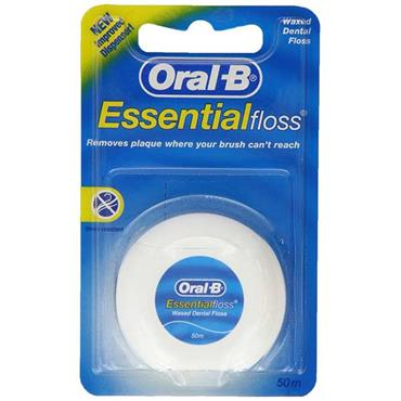 Oral B Essential Waxed Mint Dental Floss 50m