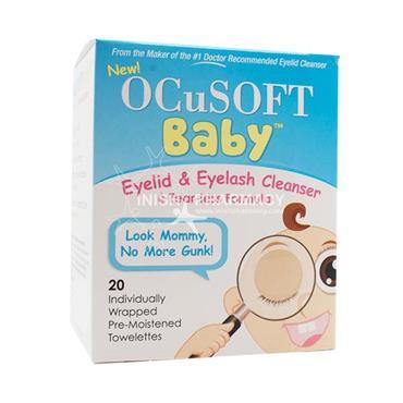 OcuSOFT Baby Eyelid & Eyelash Cleanser Pads 20 Pack