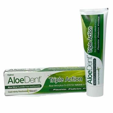 Optima Aloe Dent Triple Action Aloe Vera Fluoride Free Toothpaste 100ml