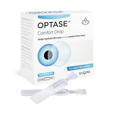 Optase Comfort Eye Drops For Contact Lens SDU 20 Pack