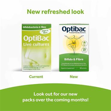 Optibac Probiotics 5 Billion Bifidobacteria & Fibre 30 Sachets