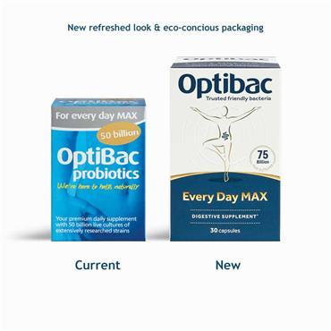 OptiBac Probiotics For Every Day Max Strength 50 Billion 30 Capsules