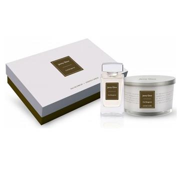 Jenny Glow Oud Bergamot 2 Piece Gift Set 80ml EDT Large Candle