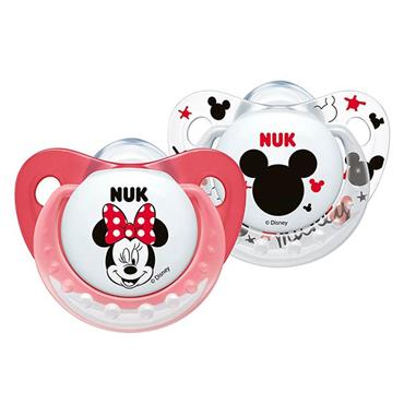 NUK Disney Mickey Silicone Soother Twin Pack