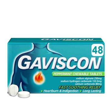 Gaviscon Chewable Tablet Peppermint