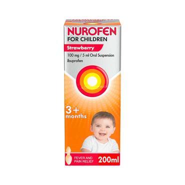 Nurofen For Children 3m+ Strawberry
