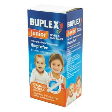 Buplex Junior Ibuprofen 3m - 12y Orange-Vanilla