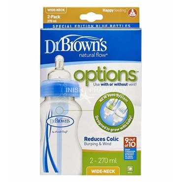 Dr Browns Options Wide-Neck Bottles Twin Pack