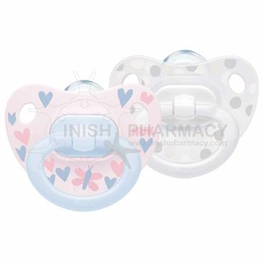 NUK Happy Days Silicone Soother Twin Pack Size 0-6m
