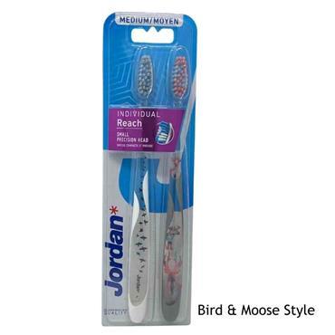 Jordan Individual Reach Medium Toothbrush - Twin Pack
