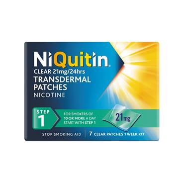 NiQuitin Clear 21mg Nicotine Patches Step 1