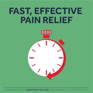 Nurofen Express Max Strength 400mg Ibuprofen Tablets