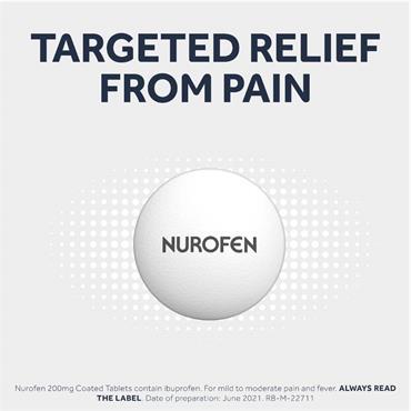 Nurofen Ibuprofen 200mg Coated Tablets
