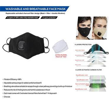 Reusable PM2.5 Face Mask 1 Pack
