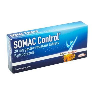 Somac Control Pantoprazole 20 mg Tablets