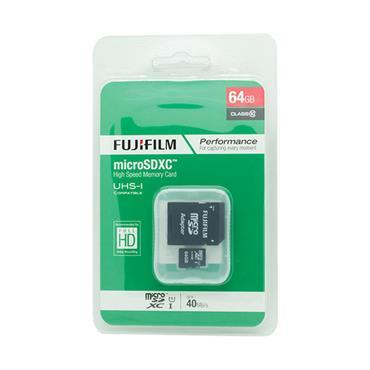 Fujifilm 64GB micro SDXC Memory Card Class 10 40mbs