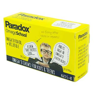 Paradox Omega School Ages 5-18 990mg 30 Pack
