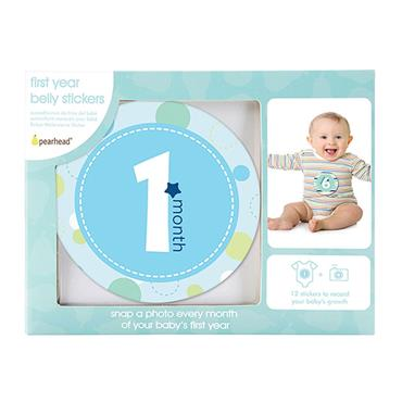 Pearhead First Year Belly Stickers 12 Pack