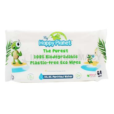 Happy Planet 100% Biodegradable Eco Baby Wipes