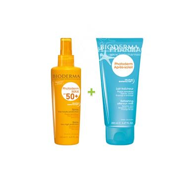 Bioderma Photoderm SPF50+ Max Spray 200ml & Free Photoderm After-Sun 100ml Special Offer