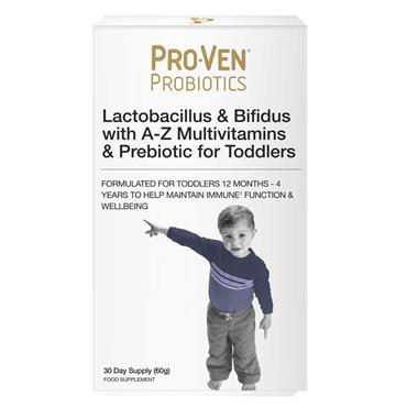 Pro-Ven Probiotics Lactobacillus & Bifidus for Toddlers 30 Days Supply