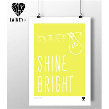 Lainey K - Shine Bright A3 Wall Art