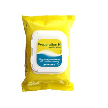 Preparation H Wipes 30 Pack