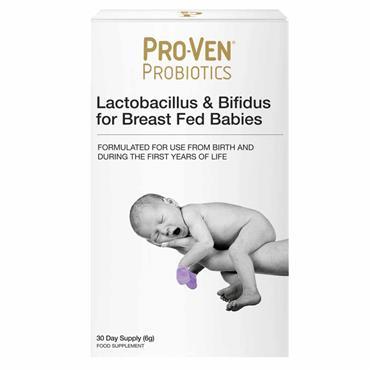 Pro-Ven Probiotics Lactobacillus & Bifidus For Breast Fed Babies 30 Pack