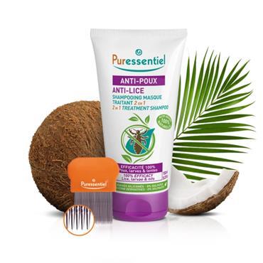 Puressentiel Anti-Lice 2 in 1 Treatment Shampoo+ Comb 150ml