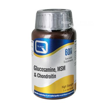 Quest Glucosamine MSM & Chondroitin Supplements 60 Pack