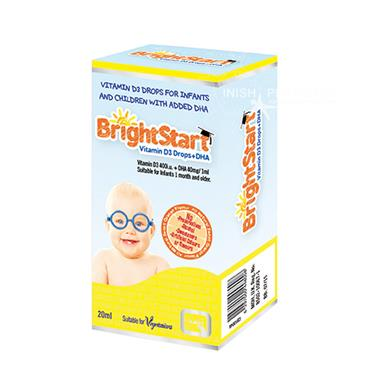 Quest Brightstart Vitamin D3 Drops & DHA 20ml